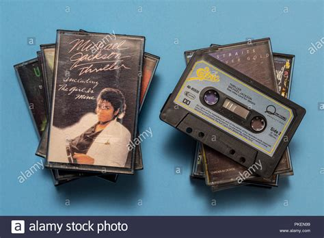 michael jackson thriller cassette michael jackson thriller album stock photos michael