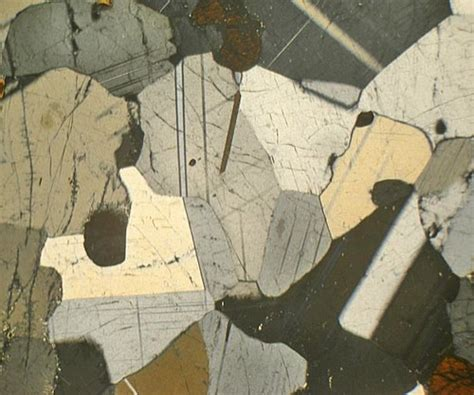cordierite thin section iolite cordierite madagascar thin section microscope