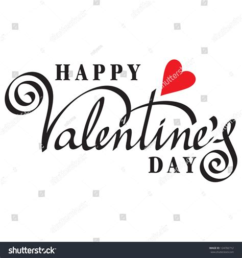 happy valentines day font happy valentines day lettering handmade stock vector
