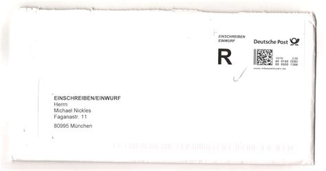 wann wird post zugestellt bedenkliche postmasche einwurfdatum bei einwurfschreiben