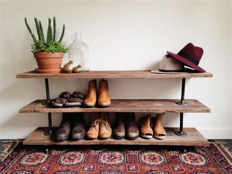 console table with shoe rack reclaimed barn wood industrial pipe console table shoe