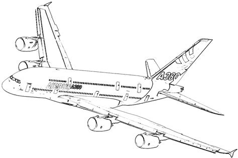 A380 Coloring Pages free airbus a380 coloring pages