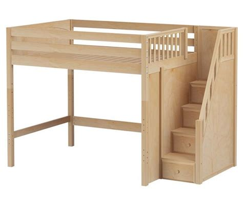 loft bunk beds stairs maxtrix high loft bed with stairs size