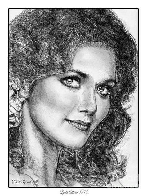 Playboy Home Decor Lynda Carter In 1978 Drawing By J Mccombie