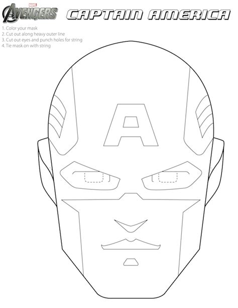 captain america helmet template printable masks