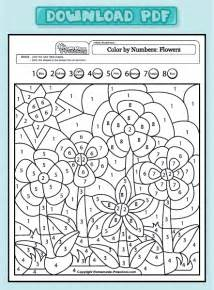 color by number math and interactive preschool worksheets