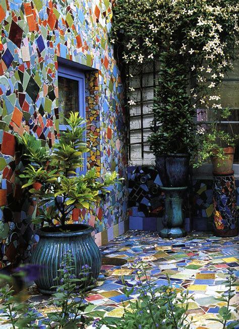 garten mosaik mosaic garden terrace mosaic