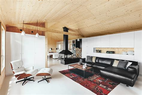 studio house wood studio house in barcelona features a host of eco
