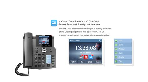 Fanvil X4 High End Enterprise Desktop Ip Phone Poe fanvil x4 全新雙彩屏企業級網絡電話 matrix ippbx 電話系統 網絡電話 fanvil