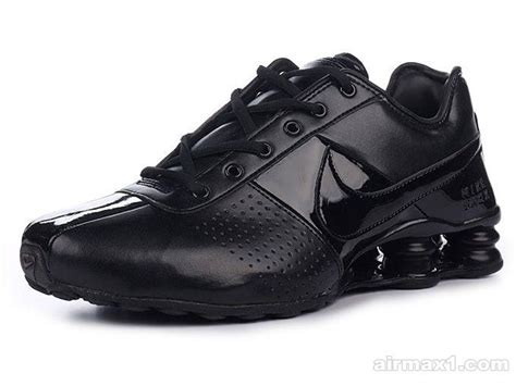 buy mens nike shox deliver running shoe all black new style