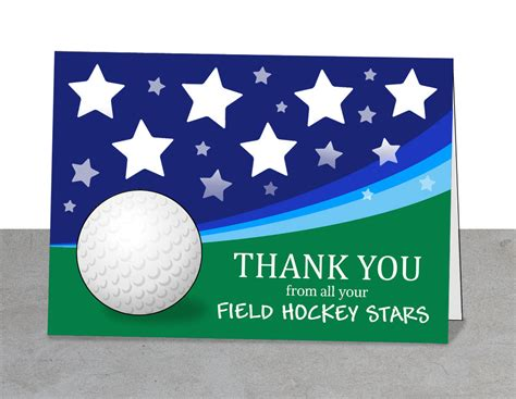 free printable thank you cards for hockey coach field hockey printable thank you coach digital thank you