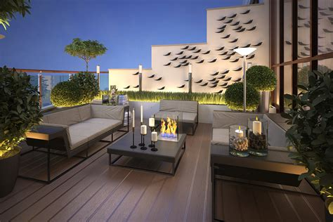 immagini terrazzi arredati modern