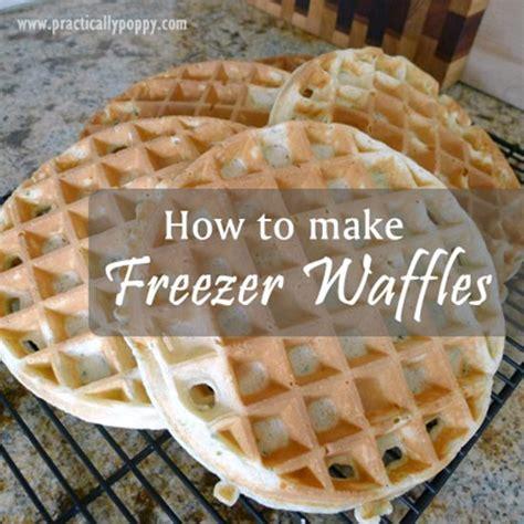 how to make and reheat freezer waffles