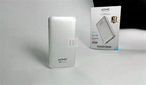 power bank acmic a10 pro desain menawan dengan dukungan fast charging