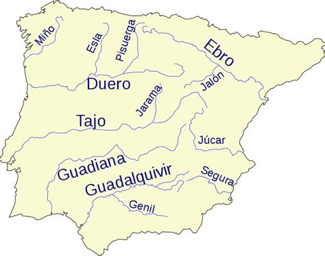 names of rivers file iberian peninsula base map with rivers and names svg