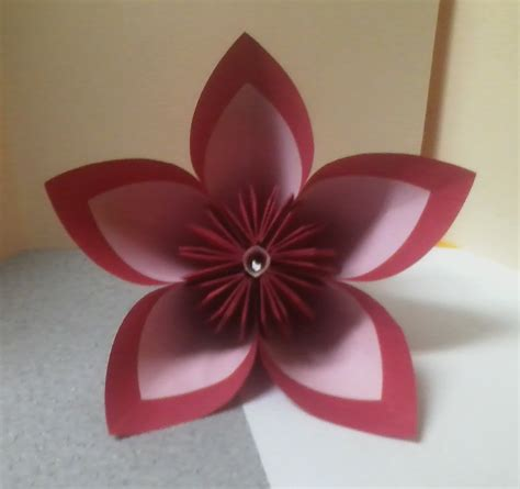 pink kusudama flower by theorigamiarchitect on deviantart