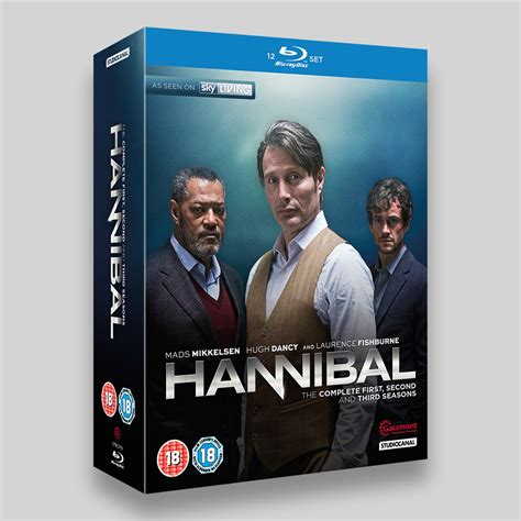 Hannibal The Complete Series Bluray hannibal season 1 3 boxset and dvd packaging rogue four design