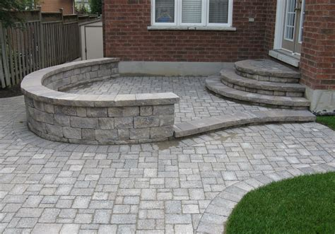 Unilock Wall Installation paradise views landscaping toronto retaining walls specs and info unilock