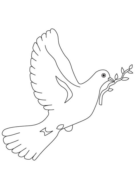 Free Coloring Pages Of Dove Peace Dove Coloring Page