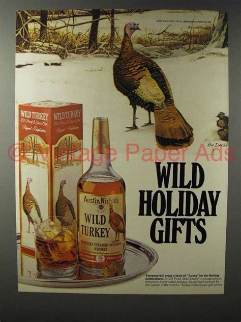 1982 wild turkey bourbon ad wild holiday gifts