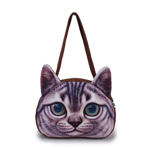 3d cat shoulder bag cat animal pattern