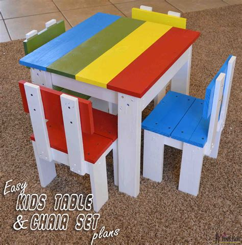 how to build a simple desk simple kid s table and chair set her tool belt