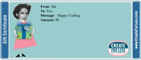 shopping spree gift certificate