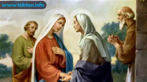 imagen de la virgen maria visitando a su prima isabel santo del d 237 a 31 de mayo la visitaci 243 n de la virgen mar 237 a