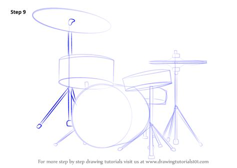 tutorial of drum step by step how to draw drums drawingtutorials101 com