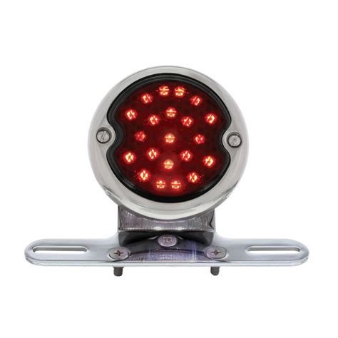 led len led bobber style smoke lens light led license light
