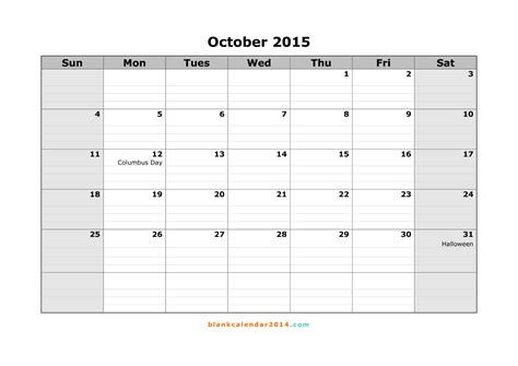 free printable planner october 2015 8 best images of free printable blank calendar october