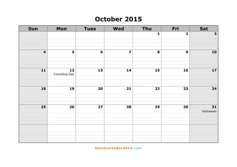 october 2015 calendar printable template 8 templates 8 best images of free printable blank calendar october