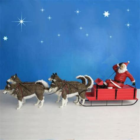 fiberglass 12 reindeer santa on sled 12 w christmasnightinc
