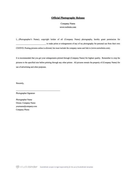 press release template you should have a photo release form template