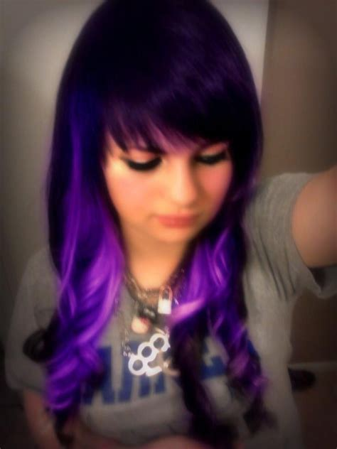 splat crimson obsession mixed with lusty lavender splat lusty lavender streaks hair style color