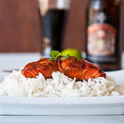maple bourbon beer glazed salmon recipe