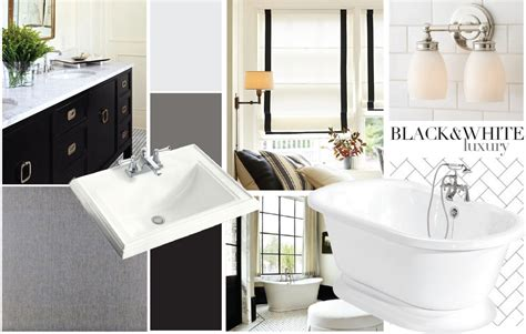 master bath black white luxury the stiers aesthetic
