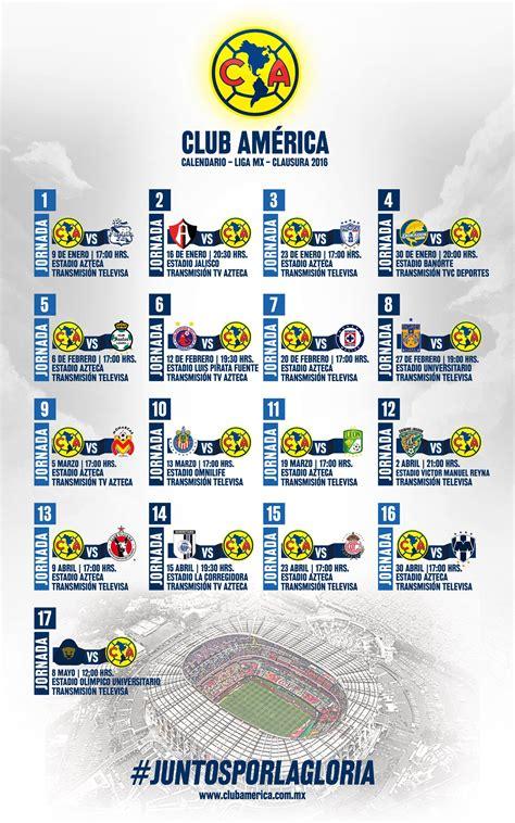 Calendario De Todas Las Ligas De Futbol Definido El Calendario De La Liga Bancomer Mx Clausura