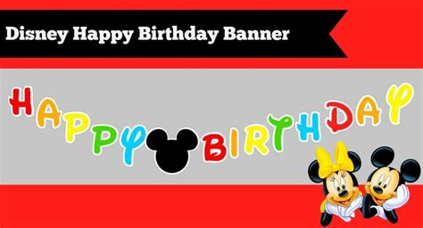 cute printable birthday banner how to make a diy mickey mouse clubhouse inspired happy