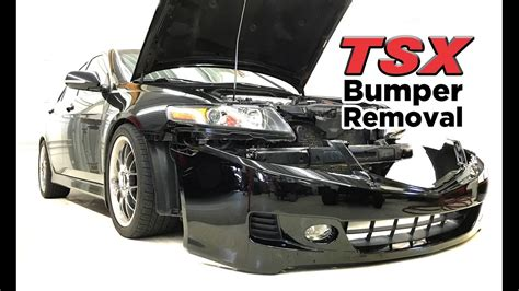 2004 acura tsx front bumper 2004 08 acura tsx front bumper removal diy