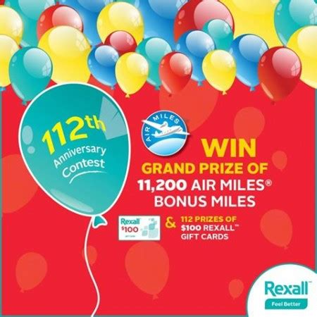 Air Miles Sweepstakes Winners - win free air miles rexall gift cards free stuff finder canada