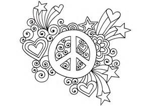 Peace Coloring Pages Free Printable Sign sketch template