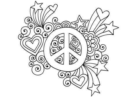Peace Flower Coloring Pages Coloring Pages Groovy Coloring Pages