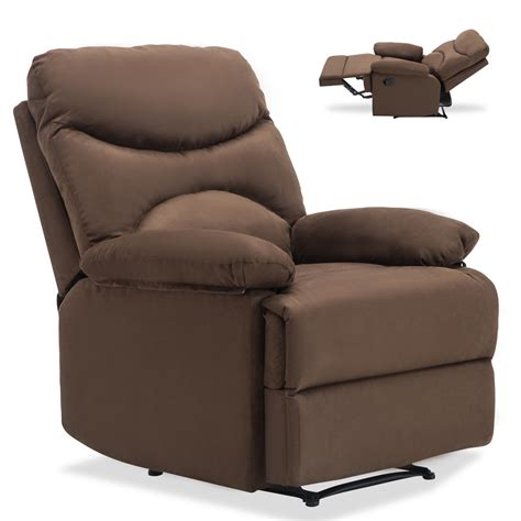 Heated Recliner by Ergonomic Lounge Heated Microfiber Recliner Sofa Chair W Ebay