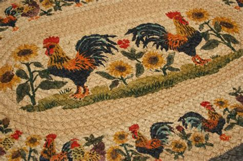 kitchen rugs with roosters country rug rooster sunflower rug braided oval kitchen rug decor
