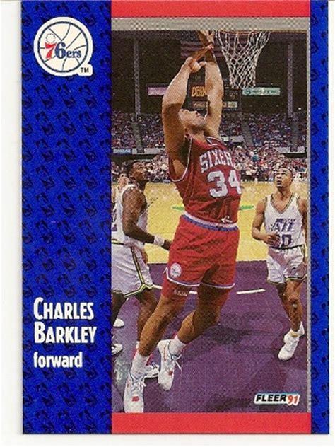 charles barkley   fleer card basketball baseball  football cards