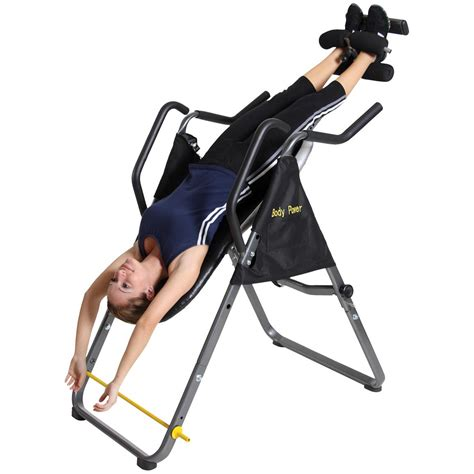 body power inversion table body power 2 in 1 inversion table and ab crunch