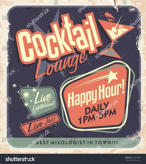 vintage cocktail party poster retro poster design for cocktail lounge cocktail party