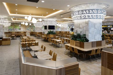 interior design of food court nocty food court mizonokuchi japan ichiro nishiwaki design