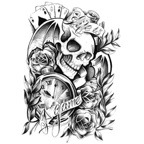 tatouages 233 ph 233 m 232 res t 234 te de mort tatouages temporaires
